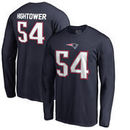 Dont'a Hightower New England Patriots NFL Pro Line by Fanatics Branded Authentic Stack Name & Number Long Sleeve T-Shirt – Navy