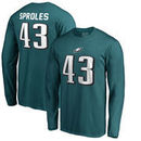 Darren Sproles Philadelphia Eagles NFL Pro Line by Fanatics Branded Authentic Stack Name & Number Long Sleeve T-Shirt – Midnight