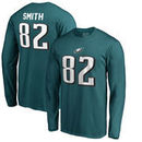 Torrey Smith Philadelphia Eagles NFL Pro Line by Fanatics Branded Authentic Stack Name & Number Long Sleeve T-Shirt – Midnight G