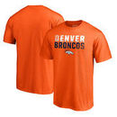 Denver Broncos NFL Pro Line by Fanatics Branded Iconic Collection Fade Out T-Shirt - Orange