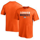 Denver Broncos NFL Pro Line by Fanatics Branded Youth Iconic Collection Fade Out T-Shirt - Orange