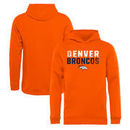 Denver Broncos NFL Pro Line by Fanatics Branded Youth Iconic Collection Fade Out Pullover Hoodie - Orange