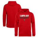 Tampa Bay Buccaneers NFL Pro Line by Fanatics Branded Youth Iconic Collection Fade Out Pullover Hoodie - Red