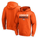 Denver Broncos NFL Pro Line by Fanatics Branded Iconic Collection Fade Out Pullover Hoodie - Orange