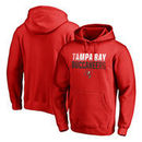 Tampa Bay Buccaneers NFL Pro Line by Fanatics Branded Iconic Collection Fade Out Pullover Hoodie - Red