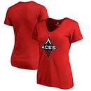 Las Vegas Aces Fanatics Branded Women's Primary Logo V-Neck T-Shirt – Red