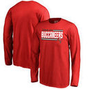 Tampa Bay Buccaneers NFL Pro Line by Fanatics Branded Youth Iconic Collection On Side Stripe Long Sleeve T-Shirt - Red