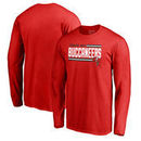 Tampa Bay Buccaneers NFL Pro Line by Fanatics Branded Iconic Collection On Side Stripe Long Sleeve T-Shirt - Red