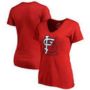 St. Louis Cardinals Fanatics Branded Women's X-Ray V-Neck T-Shirt - Red