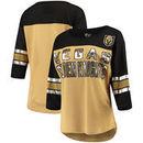 Vegas Golden Knights G-III 4Her by Carl Banks Women's First Team Mesh T-Shirt – Gold