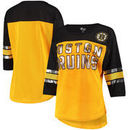 Boston Bruins G-III 4Her by Carl Banks Women's First Team Mesh T-Shirt – Yellow