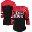 Chicago Blackhawks G-III 4Her by Carl Banks Women's First Team Mesh T-Shirt – Black