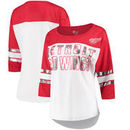 Detroit Red Wings G-III 4Her by Carl Banks Women's First Team Mesh T-Shirt – White