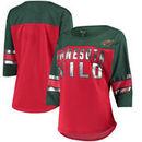 Minnesota Wild G-III 4Her by Carl Banks Women's First Team Mesh T-Shirt – Red