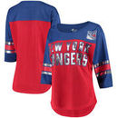 New York Rangers G-III 4Her by Carl Banks Women's First Team Mesh T-Shirt – Red