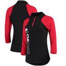 Chicago Blackhawks G-III 4Her by Carl Banks Women's Zip It Up Quarter-Zip Long Sleeve T-Shirt – Black/Red