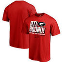 Georgia Bulldogs Fanatics Branded College Football Playoff 2018 Rose Bowl Champions Flea Flicker T-Shirt – Red