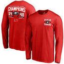 Georgia Bulldogs Fanatics Branded College Football Playoff 2018 Rose Bowl Champions Fullback Score Long Sleeve T-Shirt – Red