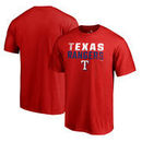 Texas Rangers Fanatics Branded Fade Out Big and Tall T-Shirt - Red