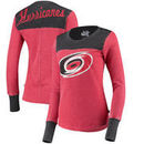 Carolina Hurricanes Touch by Alyssa Milano Women's Blindside Thermal Long Sleeve Tri-Blend T-Shirt – Red
