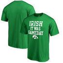 Iowa Hawkeyes Fanatics Branded St. Patrick's Day Irish It Was Gameday T-Shirt - Kelly Green