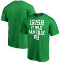 New York Giants NFL Pro Line by Fanatics Branded St. Patrick's Day Irish Game Day Big and Tall T-Shirt - Kelly Green