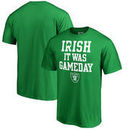 Oakland Raiders NFL Pro Line by Fanatics Branded St. Patrick's Day Irish Game Day Big and Tall T-Shirt - Kelly Green