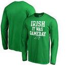 Carolina Panthers NFL Pro Line by Fanatics Branded St. Patrick's Day Irish Game Day Long Sleeve T-Shirt - Kelly Green