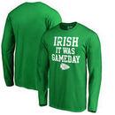 Kansas City Chiefs NFL Pro Line by Fanatics Branded St. Patrick's Day Irish Game Day Long Sleeve T-Shirt - Kelly Green