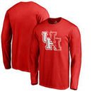 Houston Cougars Fanatics Branded X Ray Long Sleeve T-Shirt - Red