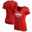 Ohio State Buckeyes Fanatics Branded Women's 2017 Cotton Bowl Champions Goal V-Neck T-Shirt – Red