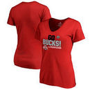 Ohio State Buckeyes Fanatics Branded Women's 2017 Cotton Bowl Champions Flea Flicker V-Neck T-Shirt – Red