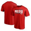 Cincinnati Reds Fanatics Branded Onside Stripe T-Shirt - Red