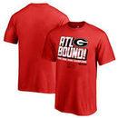 Georgia Bulldogs Fanatics Branded Youth College Football Playoff 2018 Rose Bowl Champions Flea Flicker T-Shirt – Red