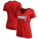 St. Louis Cardinals Fanatics Branded Women's Onside Stripe V-Neck T-Shirt - Red