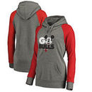 Chicago Bulls Fanatics Branded Women's Disney Rally Cry Tri-Blend Raglan Pullover Hoodie - Ash