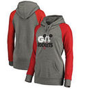 Houston Rockets Fanatics Branded Women's Disney Rally Cry Tri-Blend Raglan Pullover Hoodie - Ash
