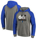 Dallas Mavericks Fanatics Branded Disney Rally Cry Tri-Blend Raglan Pullover Hoodie - Ash