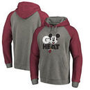 Miami Heat Fanatics Branded Disney Rally Cry Tri-Blend Raglan Pullover Hoodie - Ash
