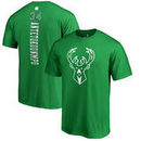Milwaukee Bucks Fanatics Branded St. Patrick's Day Backer Name & Number Giannis Antetokounmpo T-Shirt - Kelly Green