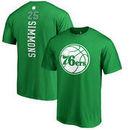 Philadelphia 76ers Fanatics Branded St. Patrick's Day Backer Name & Number Ben Simmons T-Shirt - Kelly Green