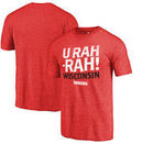 Wisconsin Badgers Fanatics Branded Hometown Collection U Rah Tri-Blend T-Shirt - Red