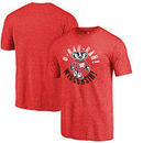 Wisconsin Badgers Fanatics Branded Hometown Collection Rah Rah Tri-Blend T-Shirt - Red