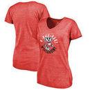 Wisconsin Badgers Fanatics Branded Women's Hometown Collection Rah Rah Tri-Blend V-Neck T-Shirt - Red