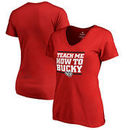 Wisconsin Badgers Fanatics Branded Women's Hometown Collection Teach Me V-Neck T-Shirt - Red