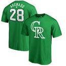 Nolan Arenado Colorado Rockies Fanatics Branded St. Patrick's Day Stack Name & Number T-Shirt - Kelly Green