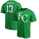 Salvador Perez Kansas City Royals Fanatics Branded St. Patrick's Day Stack Name & Number T-Shirt - Kelly Green
