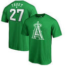 Mike Trout Los Angeles Angels Fanatics Branded St. Patrick's Day Stack Name & Number T-Shirt - Kelly Green