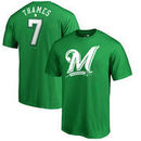Eric Thames Milwaukee Brewers Fanatics Branded St. Patrick's Day Stack Name & Number T-Shirt - Kelly Green