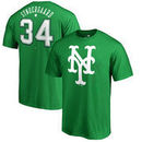 Noah Syndergaard New York Mets Fanatics Branded St. Patrick's Day Stack Name & Number T-Shirt - Kelly Green
